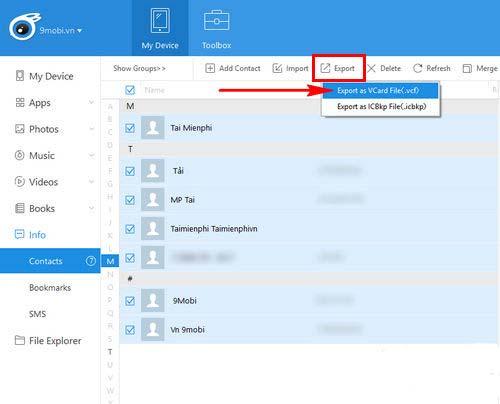 Hướng dẫn cách copy danh bạ từ iPhone sang sim (5)