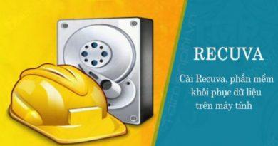Phần mềm khôi phục hình ảnh và dữ liệu Recuva