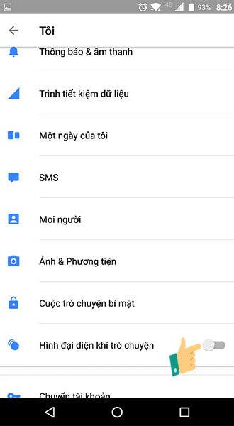 Tắt bong bóng chat Messenger