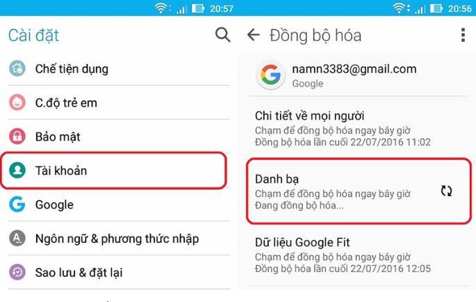 Đồng bộ ứng dụng Zalo và Danh bạ điện thoại Android