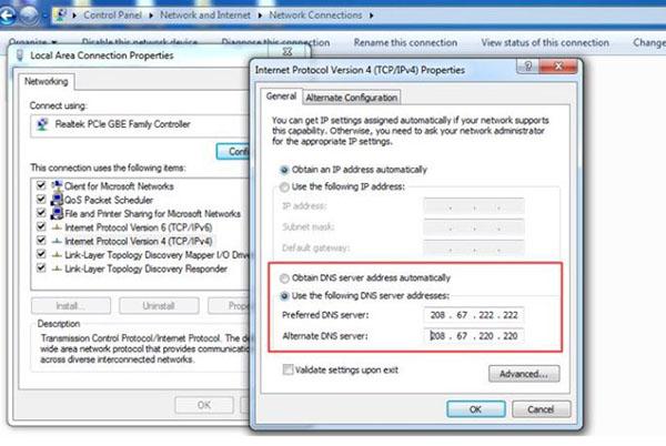 Cách thực hiện thay đổi DNS trên Win 7, Win 8.1 và Win 10