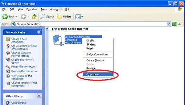 Cách đổi mã số DNS trên máy tính Windows XP