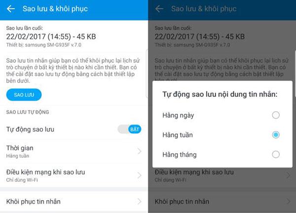 Tự động sao lưu tin nhắn Zalo trên điện thoại để dễ dàng khôi phục