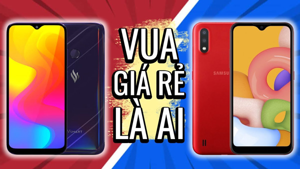 So sánh Vsmart Joy 3 và Galaxy A01