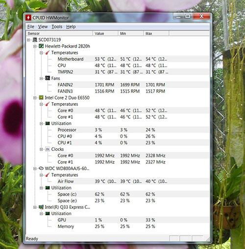 Kiểm tra nhiệt độ card màn hình