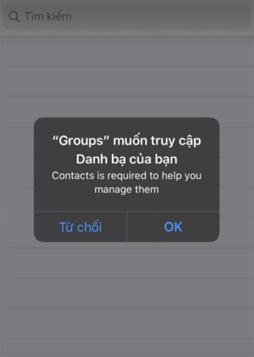 Phần mềm xóa danh bạ điện thoại Groups (1)