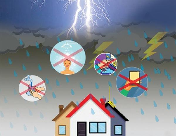 Một số biện pháp phòng chống sét trong nhà khi trời mưa bão cần biết