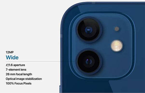 Camera trên iPhone 12 Mini cũng được đánh giá tốt hơn