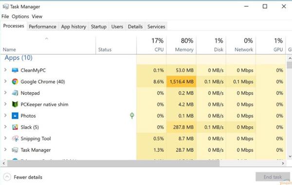 Laptop chạy chậm trong quá trình sử dụng