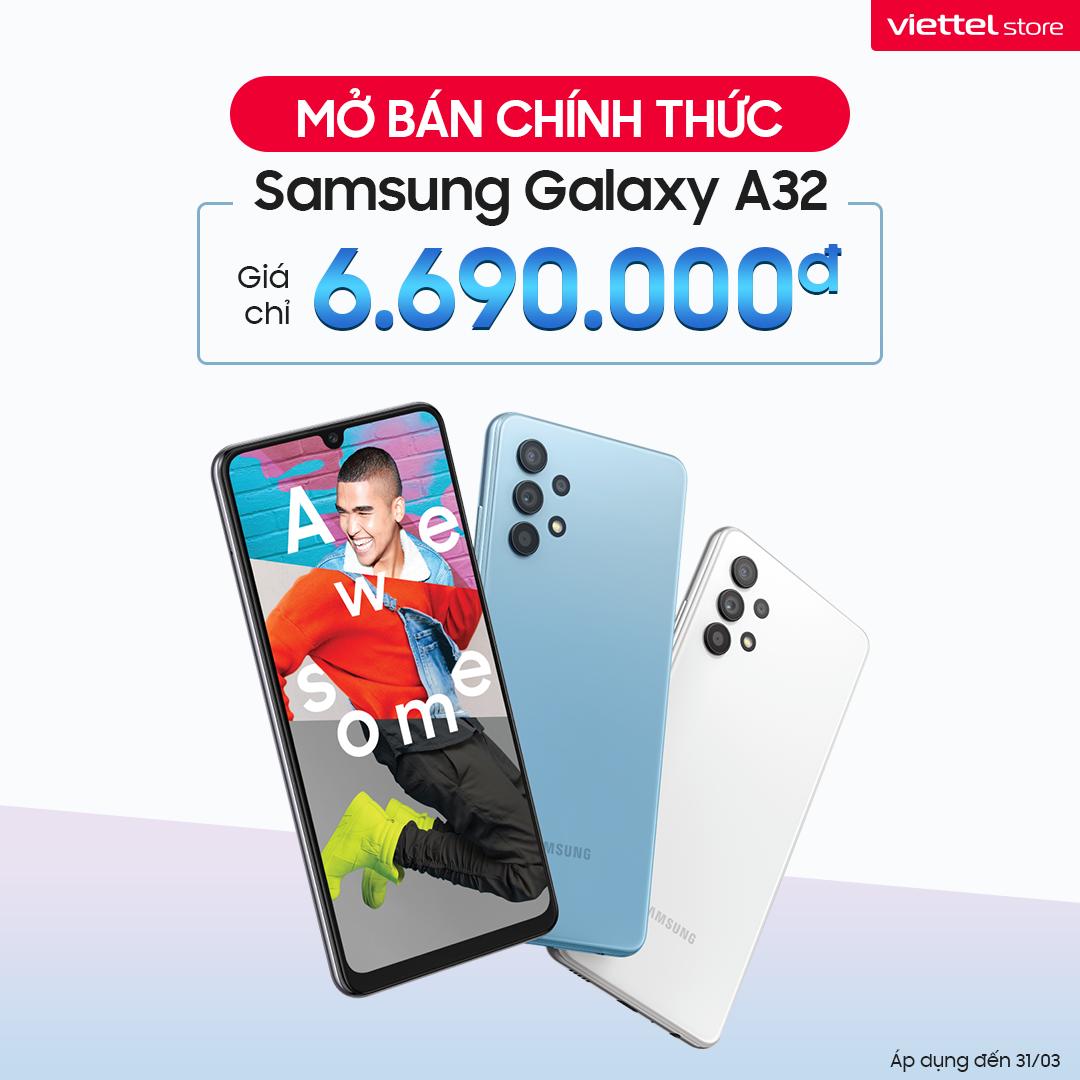 Mua Samsung Galaxy A32 chính hãng