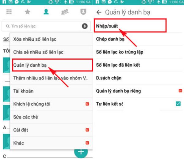Cách đồng bộ danh bạ Android lên Gmail (1)