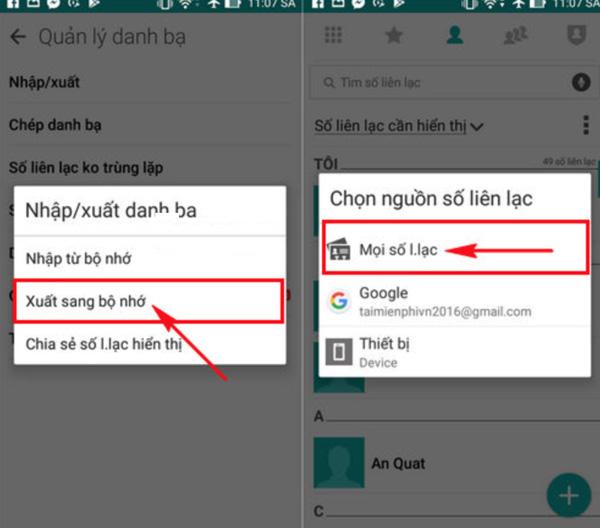 Cách đồng bộ danh bạ Android lên Gmail (2)