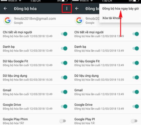 Cách đồng bộ danh bạ từ Gmail sang Android (1)