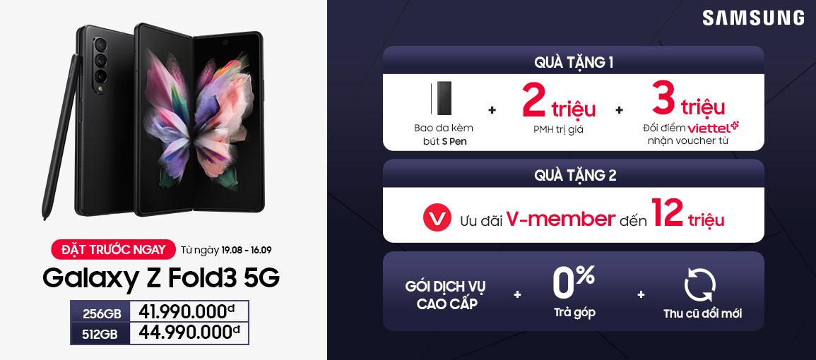 Giá bán Z Fold3 5G tại Viettel Store