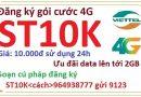 4G viettel 1 ngày 10k