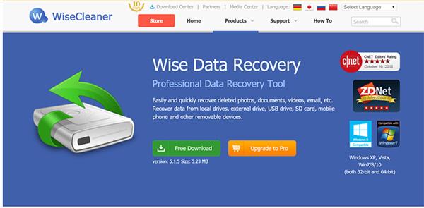 Phần mềm khôi phục dữ liệu ổ cứng Wise Data Recovery